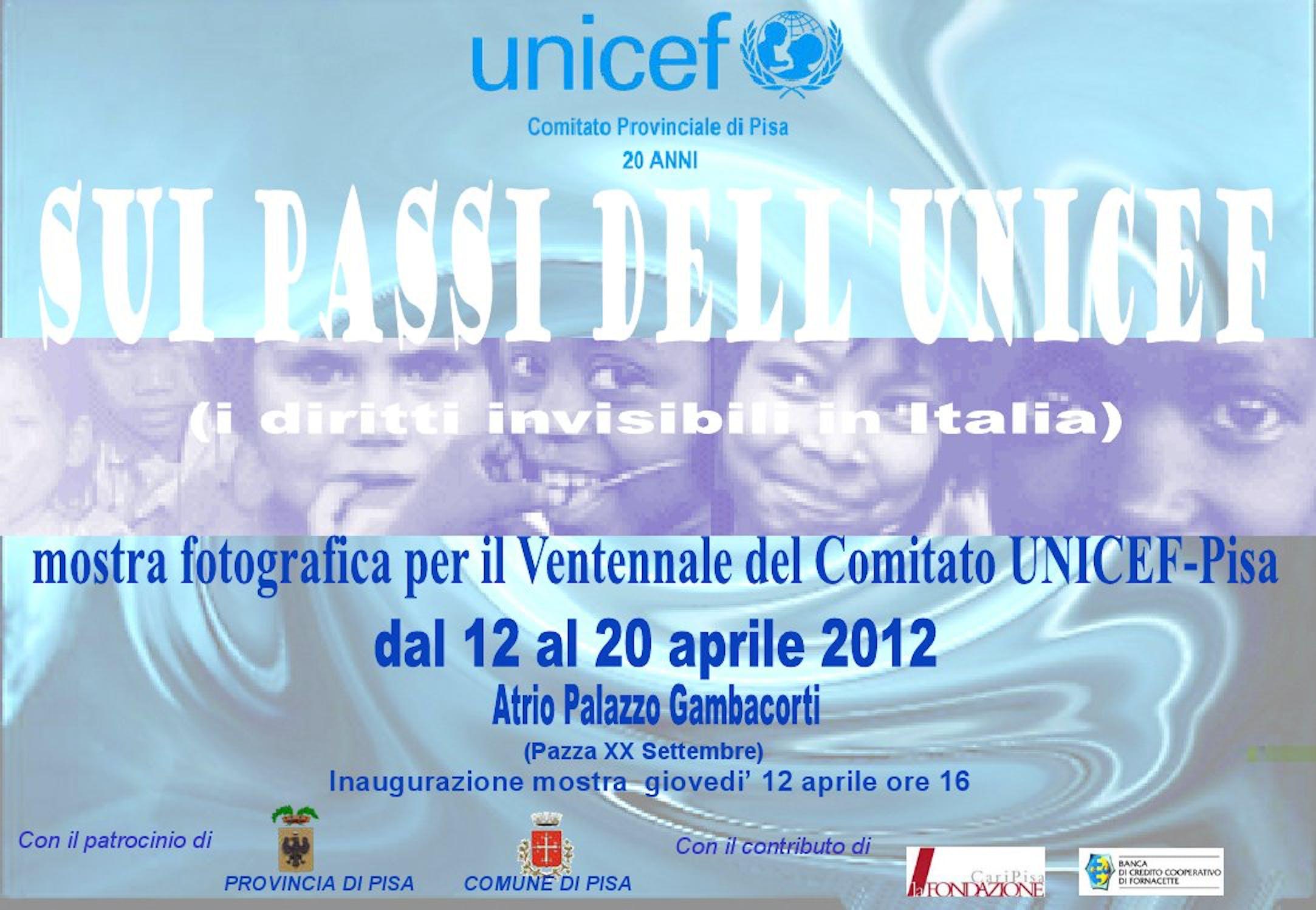 A Pisa una mostra sui passi dell'UNICEF