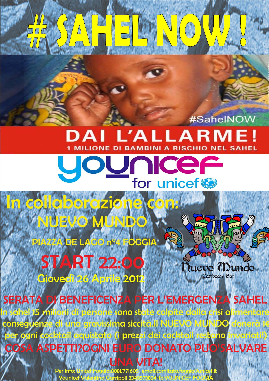 Una serata a Foggia per i bambini del Sahel