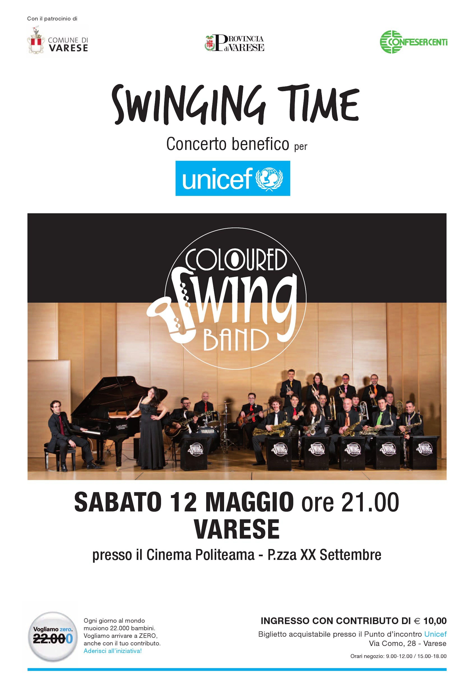 Un concerto swing a Varese contro la mortalità infantile