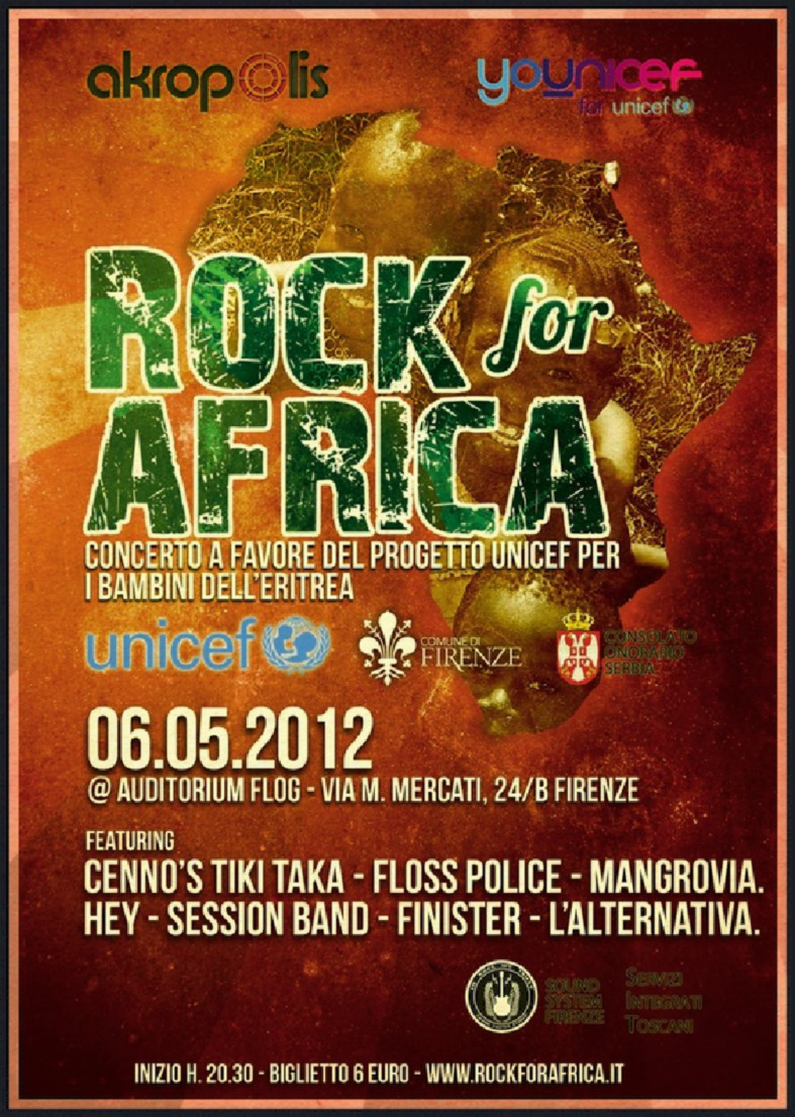 Rock for Africa a Firenze