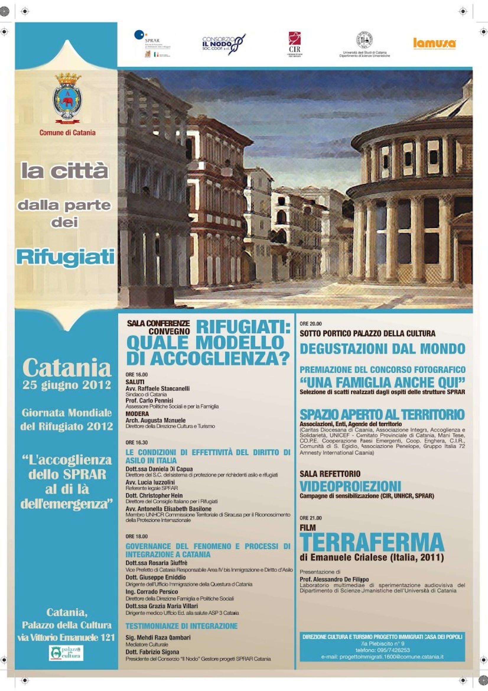 Catania celebra la Giornata Mondiale del Rifugiato