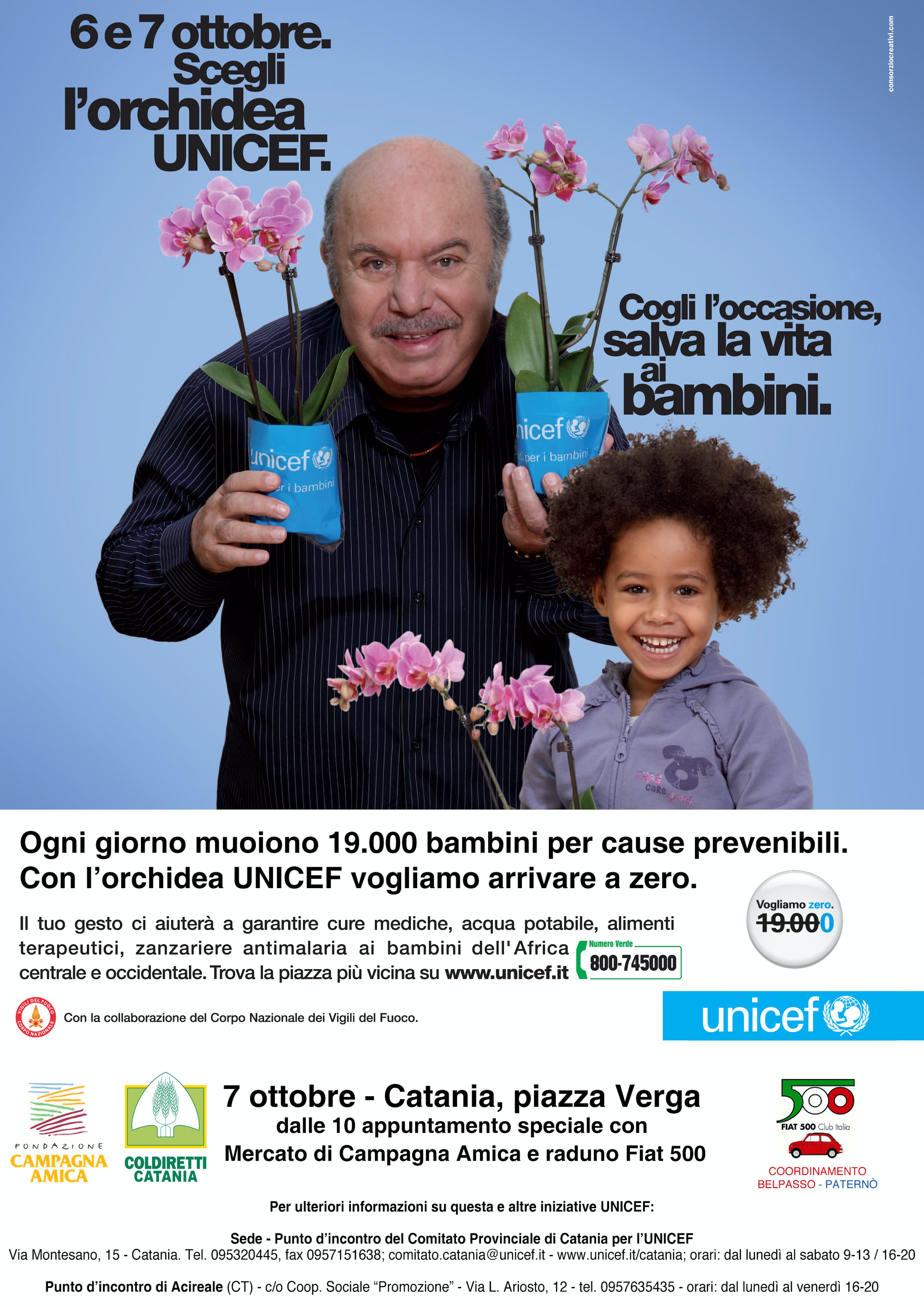 A Catania, un'orchidea per i bambini del mondo