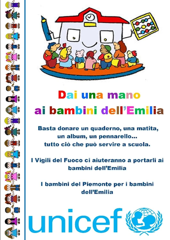 I bambini del Piemonte per i bambini dell'Emilia Romagna