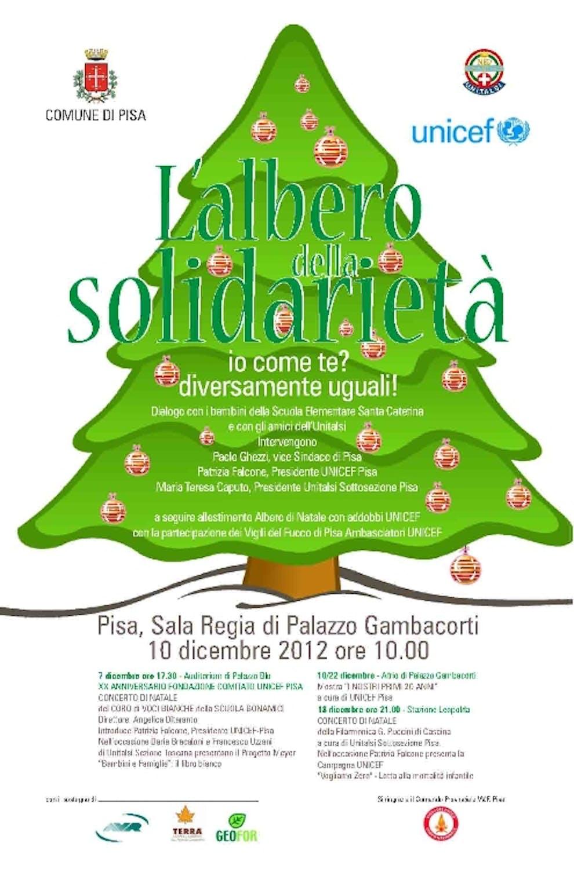 A Pisa, l'UNICEF e Unitalsi insieme per l'Albero della solidarietà