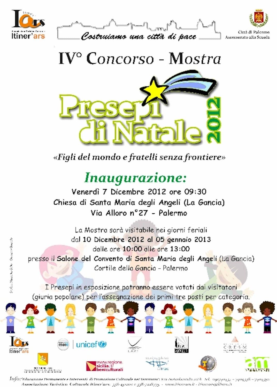 Palermo promuove un concorso-mostra dei Presepi di Natale