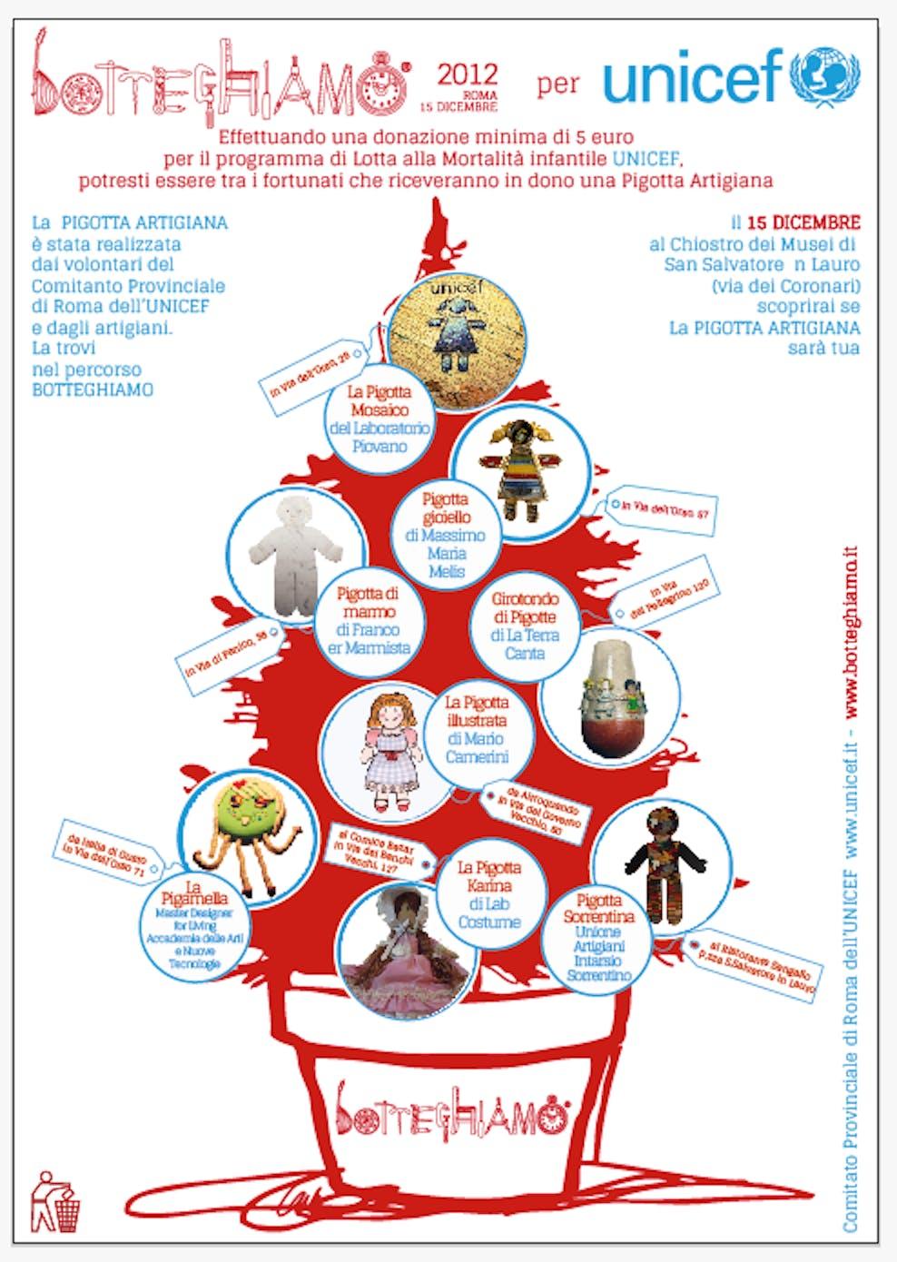 """Botteghiamo 2012: la """"Pigotta Artigiana"""" a fianco dell'UNICEF"""