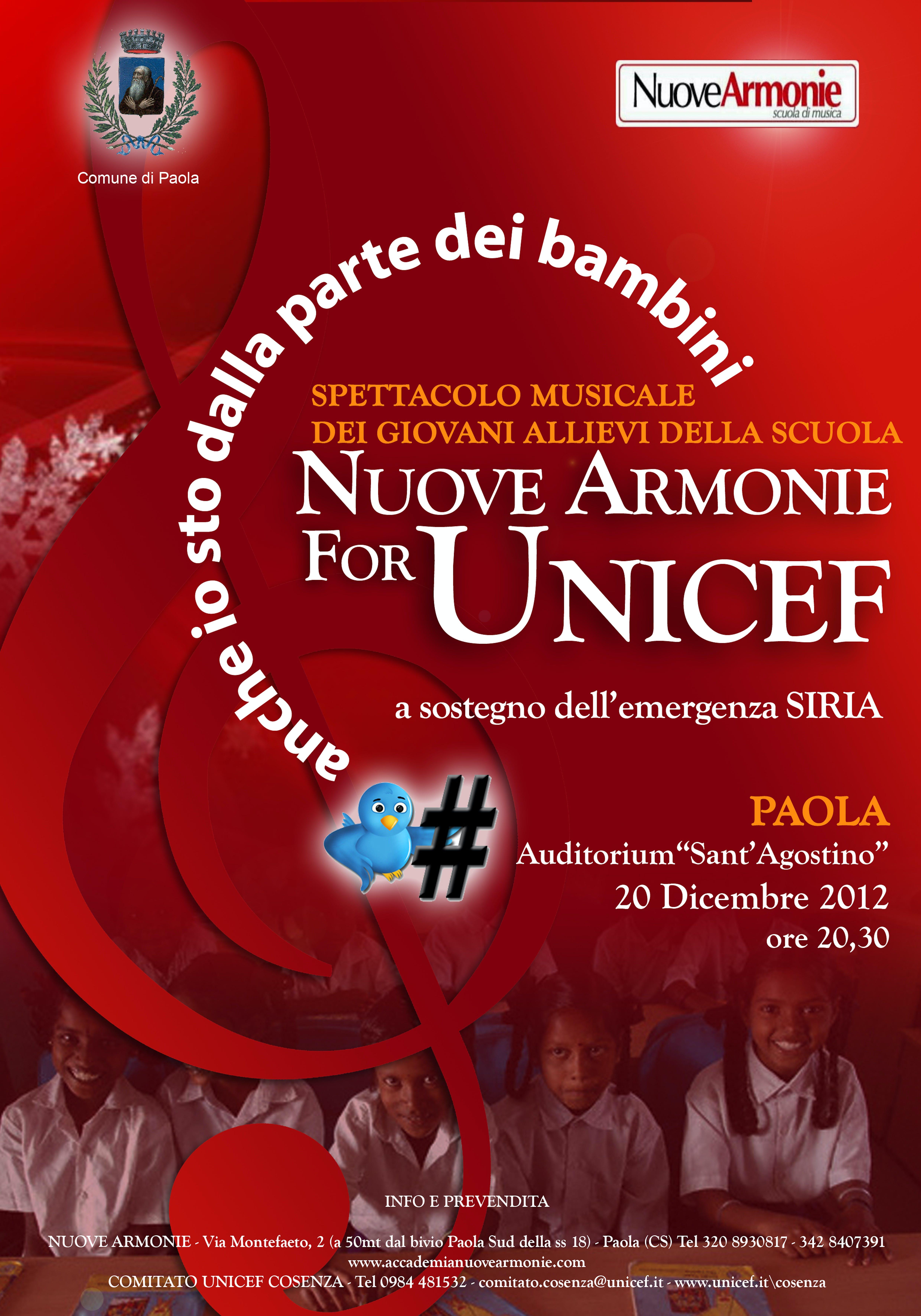 Nuove Armonie for UNICEF, atmosfere natalizie a Paola