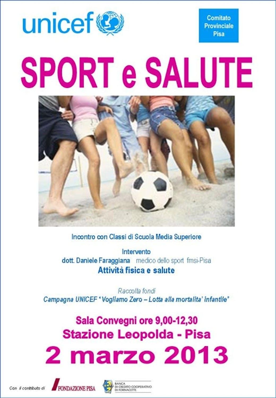 Sport e salute al centro di un incontro a Pisa