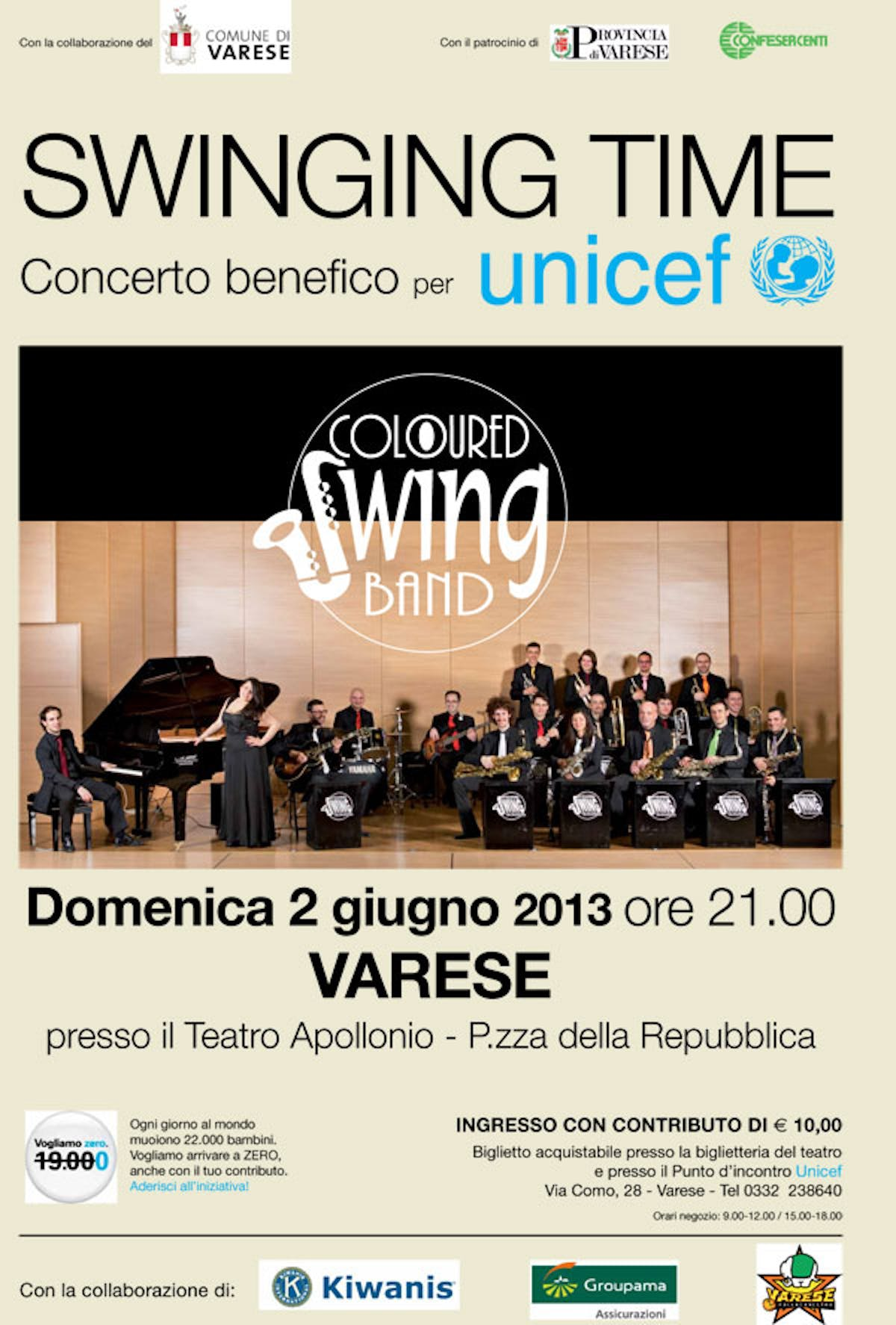 Swinging Time, concerto pro UNICEF a Varese (2/6)