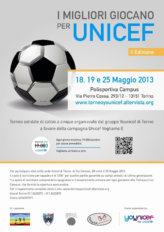 Calcio a 5 per l'UNICEF a Torino