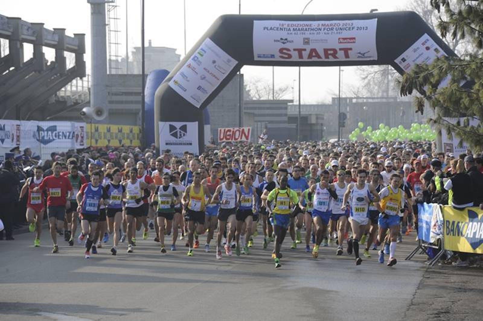 Numeri da record per la ''Placentia Marathon for UNICEF