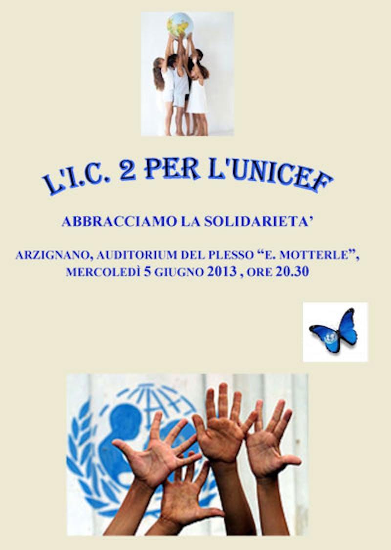 Arzignano (VI), festa di fine anno a scuola con l'UNICEF