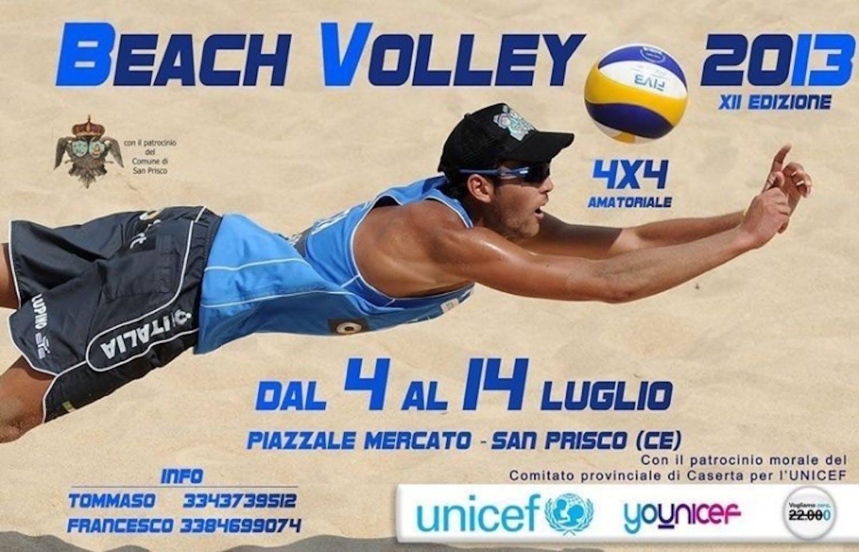 Beach volley per l'UNICEF a San Prisco (CE)