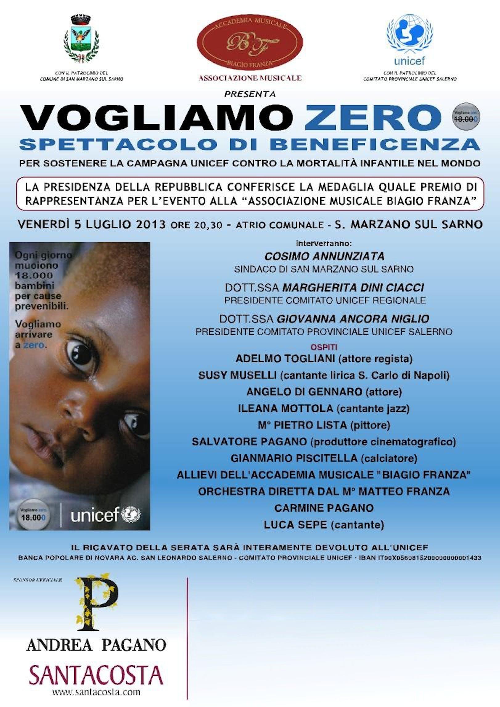 S. Marzano sul Sarno, serata di artisti per arrivare a Zero