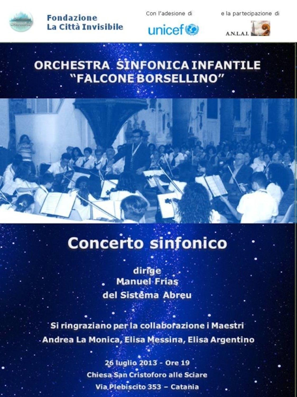 Catania, l'orchestra infantile