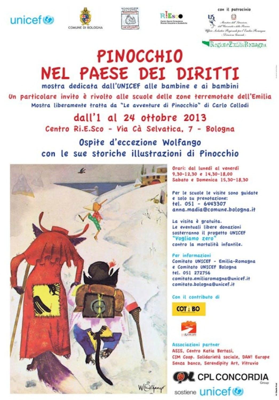 A Bologna l'UNICEF porta Pinocchio