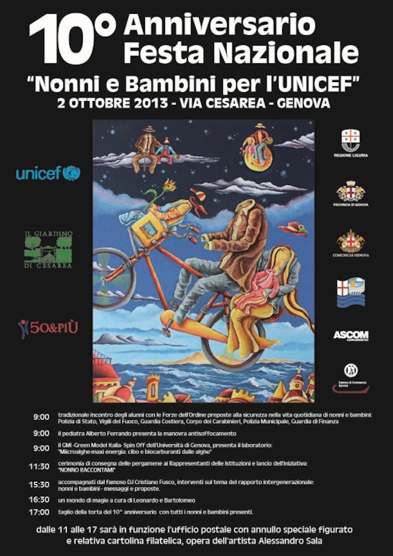 Genova: decima edizione della Festa Nazionale Nonni e Bambini per l'UNICEF