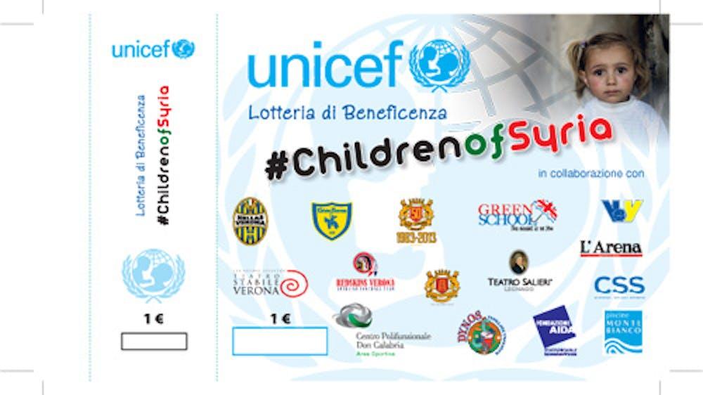 Verona: parte la lotteria #ChildrenofSyria