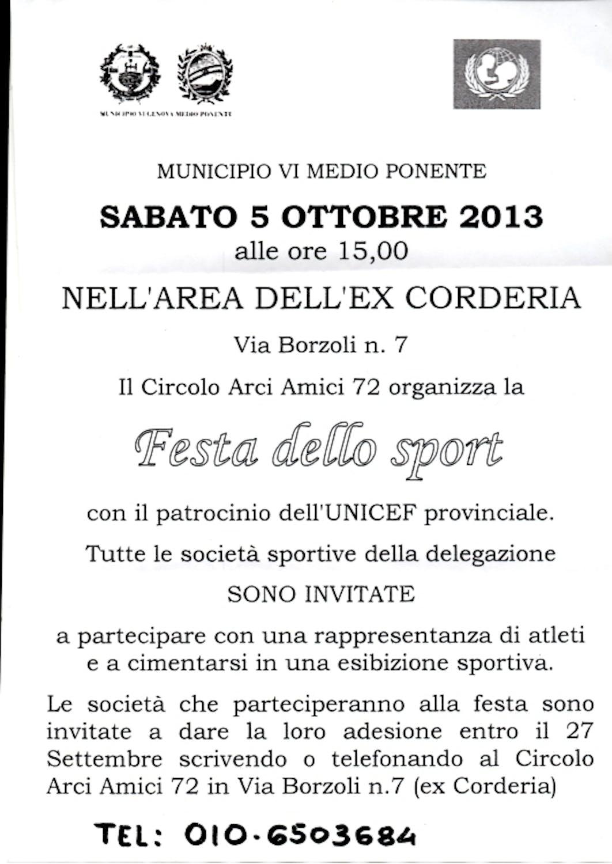 Genova: la Festa dello Sport ancora vicina ai diritti dei bambini