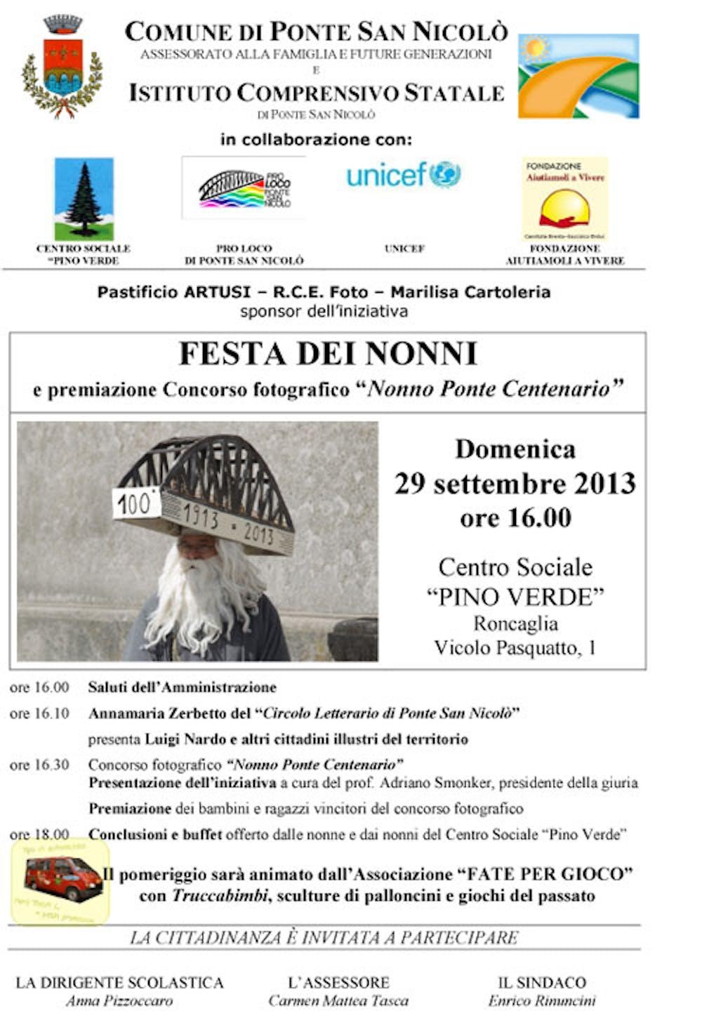 A Ponte San Nicolò (PD) la festa dei nonni ospita la Pigotta UNICEF