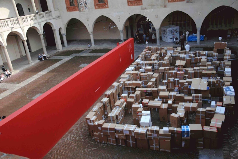 Novara: il labirinto dell'UNICEF alla NovarArchitettura
