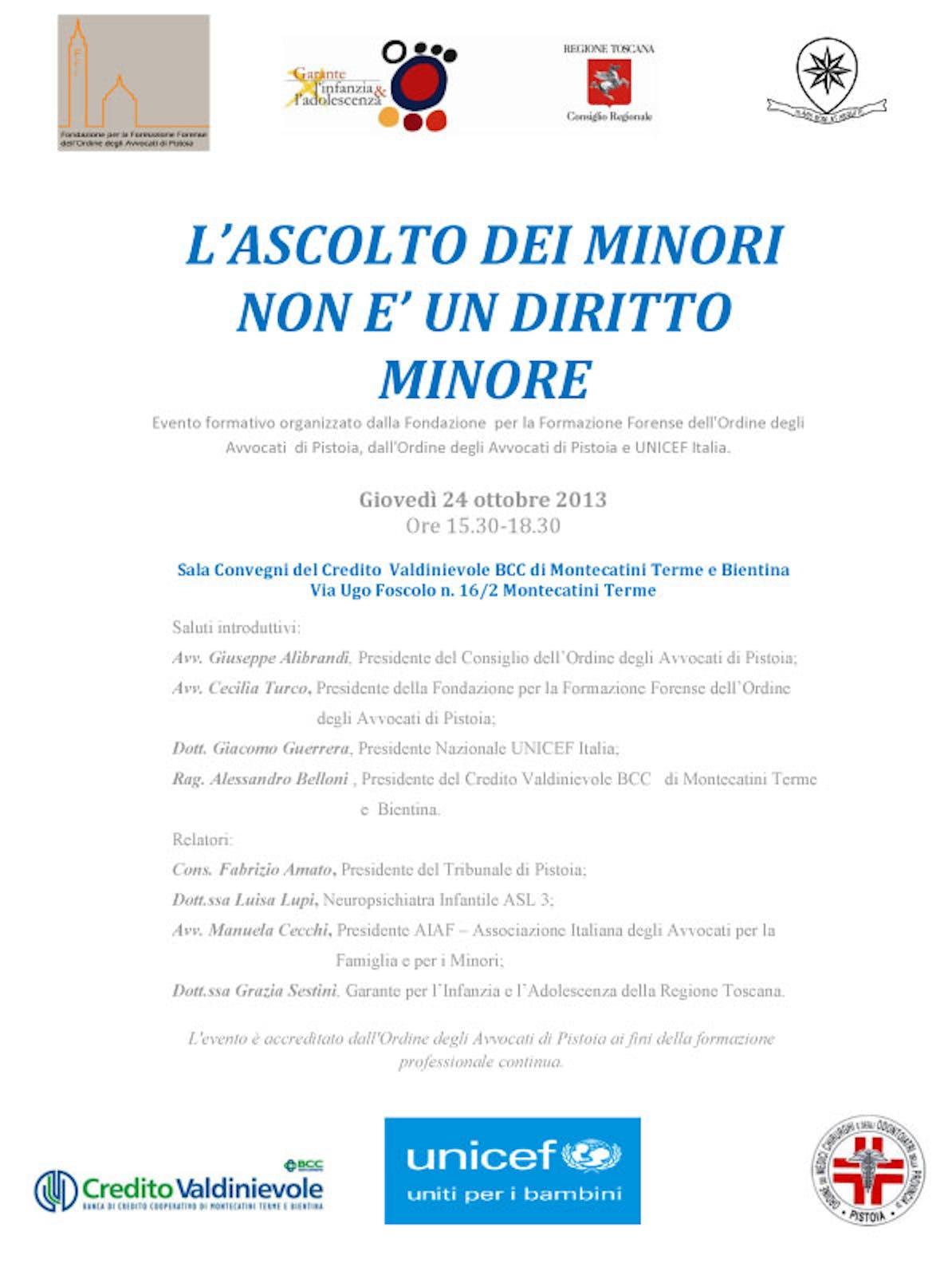 A Montecatini Terme si discute sui diritti dell'infanzia con la Fondazione Forense