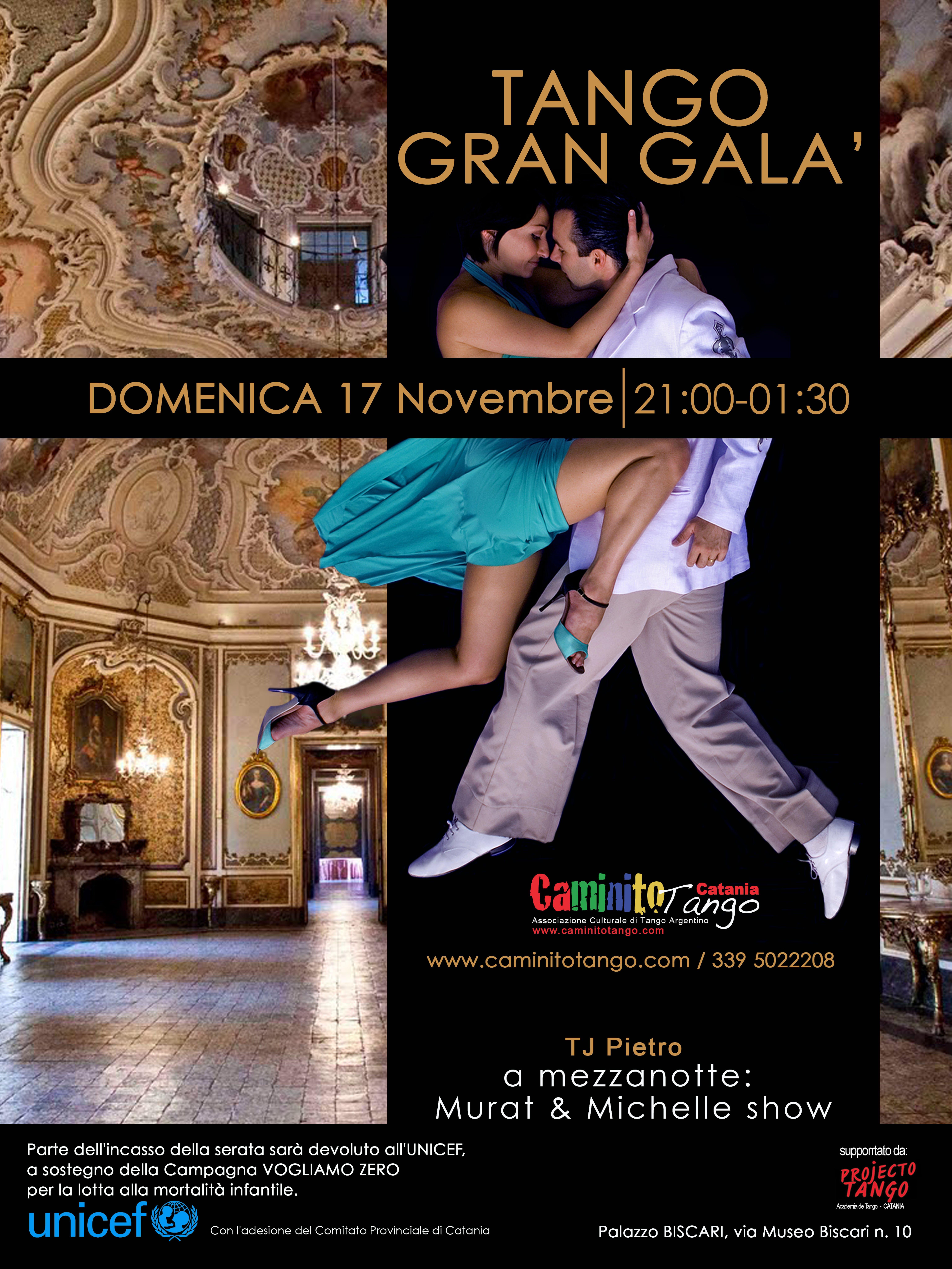 Catania: un Gran Galà di Tango per l'emergenza Filippine