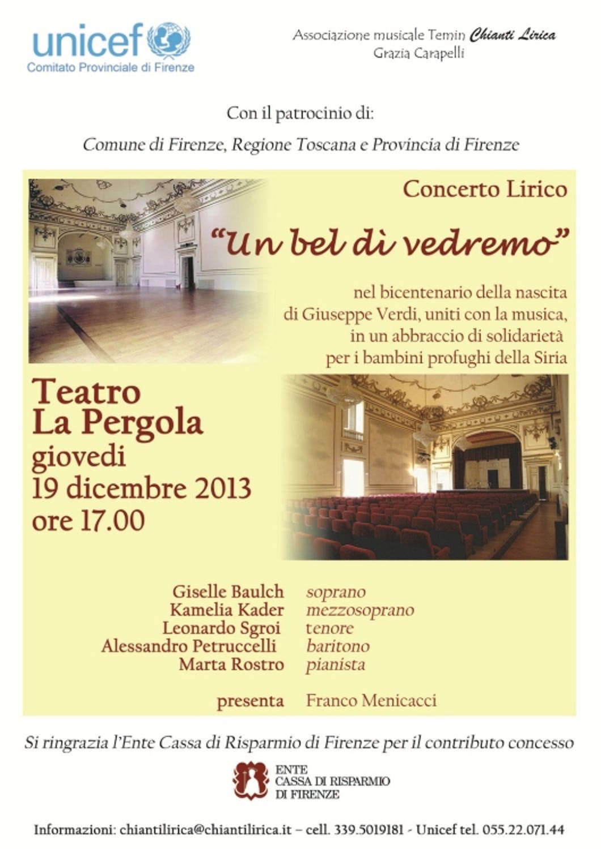 Firenze: concerto lirico per l'emergenza siriana