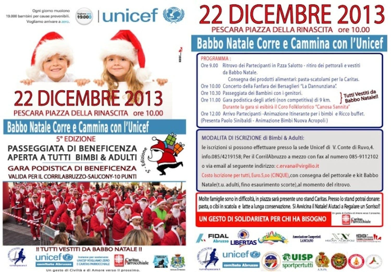 Pescara: Babbo Natale Corre e Cammina con UNICEF
