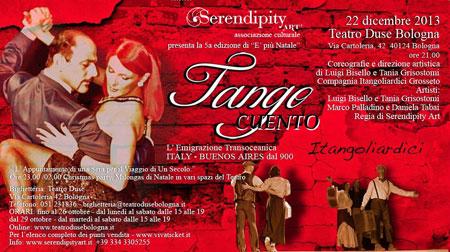 Locandina dell'iniziativa al Teatro Duse di Bologna di domenica 22 dicembre 2013