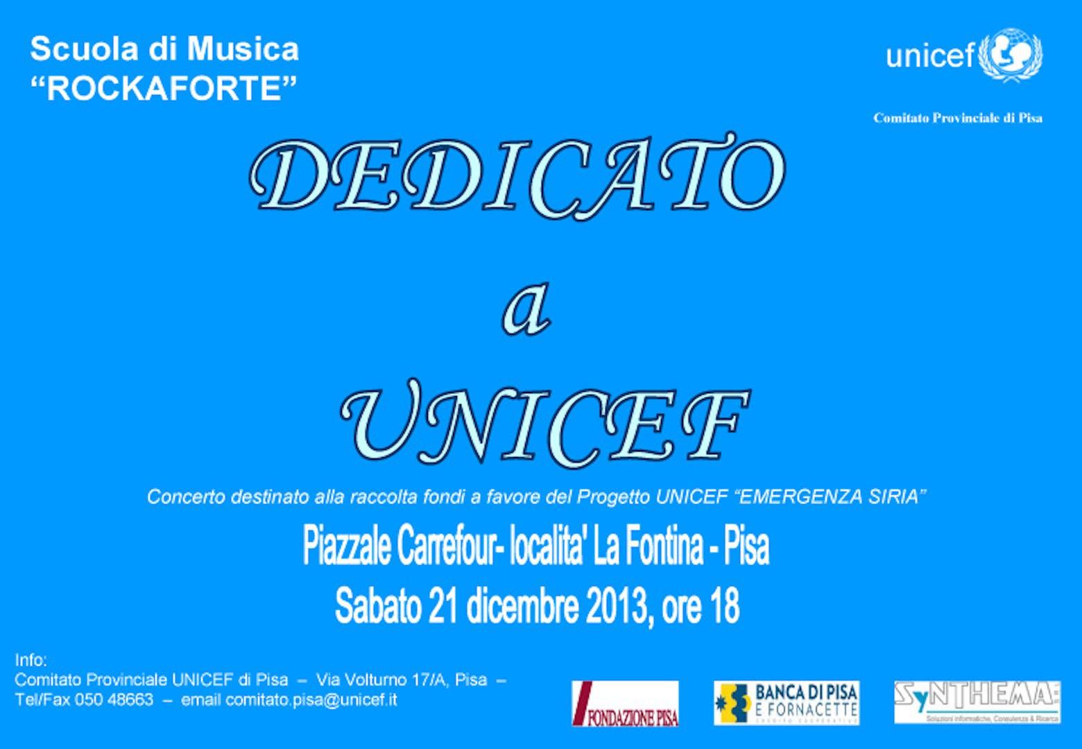 A San Giuliano il Rock suona per UNICEF