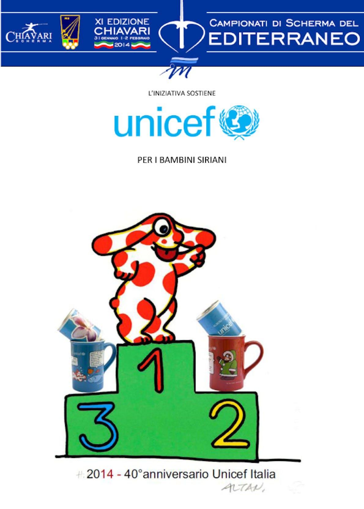 Chiavari: i Campionati del Mediterraneo di Scherma per l'UNICEF