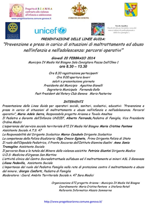 Genova. Anche l'UNICEF alla presentazione delle linee guida per operatori sociali