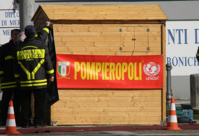 I volontari UNICEF di Benevento presenti a Pompieropoli