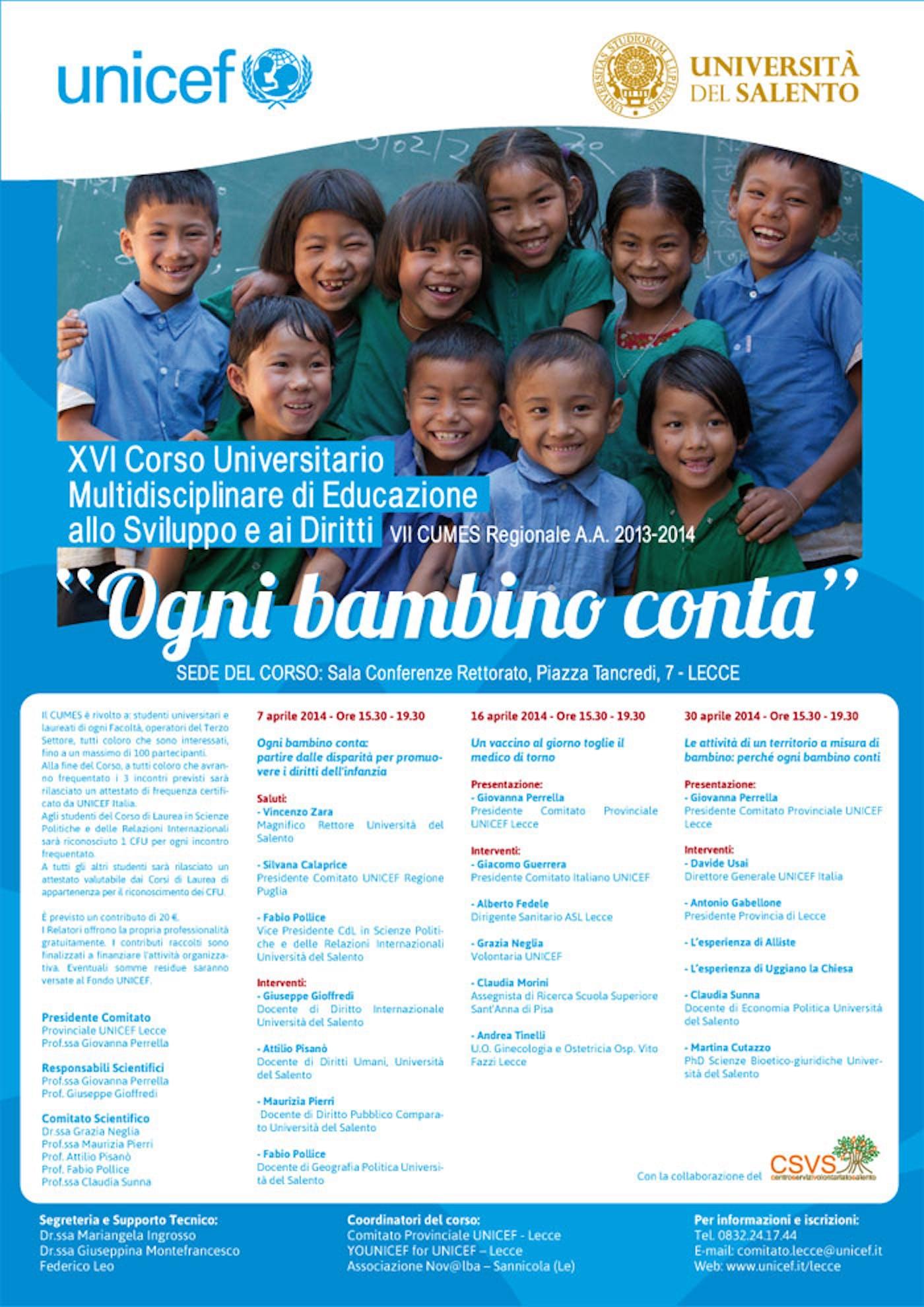 Lecce: Al via il XVI Corso Universitario Multidisciplinare di Educazione allo Sviluppo e ai Diritti