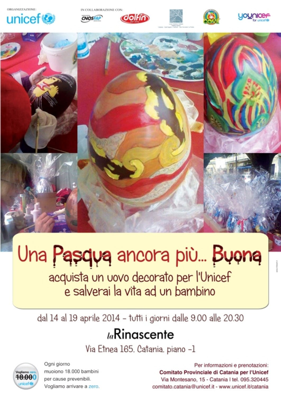 A Catania le uova di Pasqua decorate sostengono UNICEF