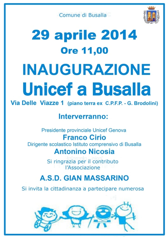 Genova: nasce un nuovo punto UNICEF permanente a Busalla