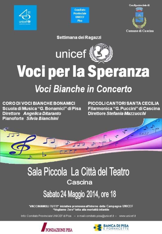 Pisa: il coro delle Voci Bianche in concerto per UNICEF