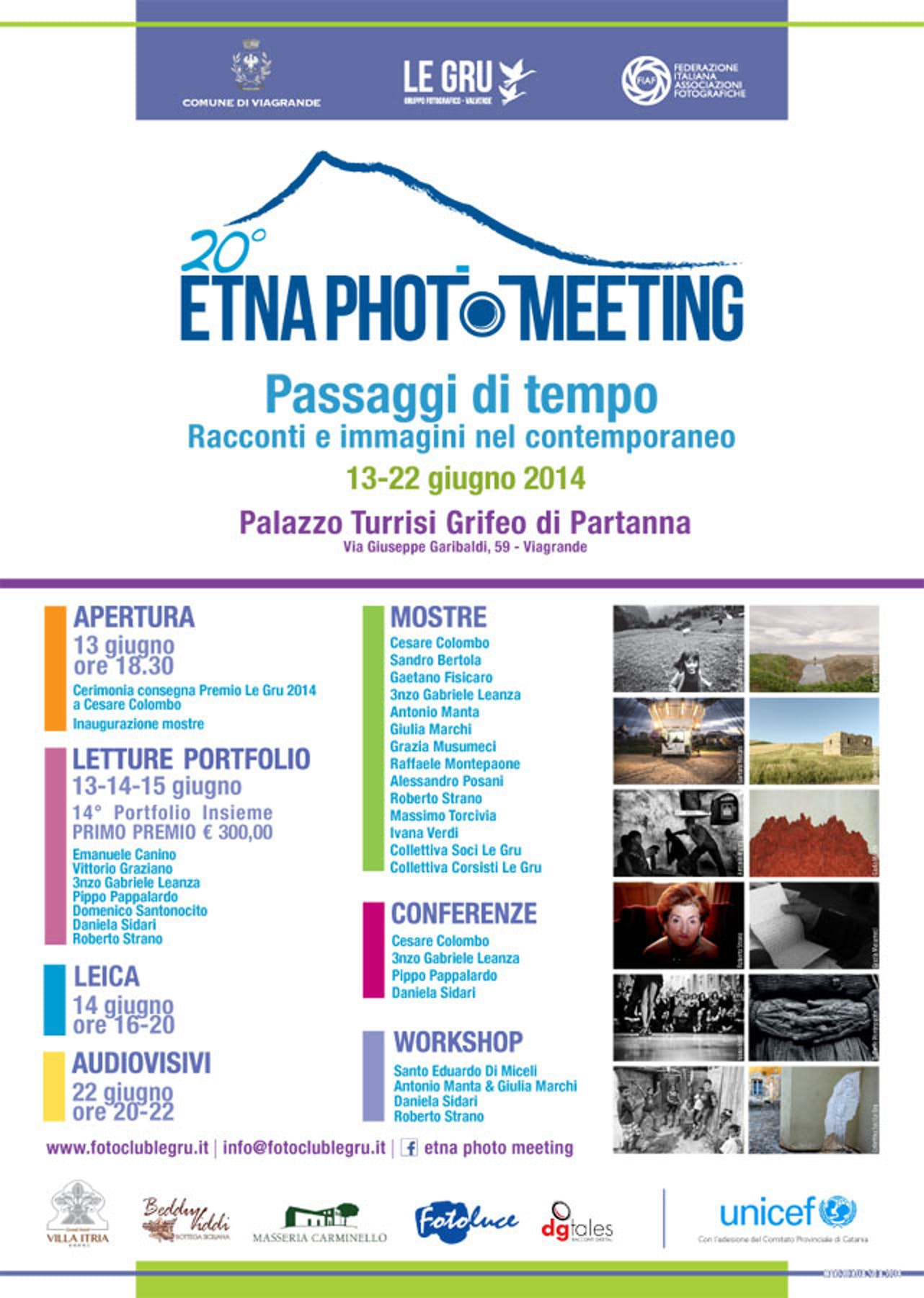 Catania: l'UNICEF aderisce all'Etna Photo Meeting