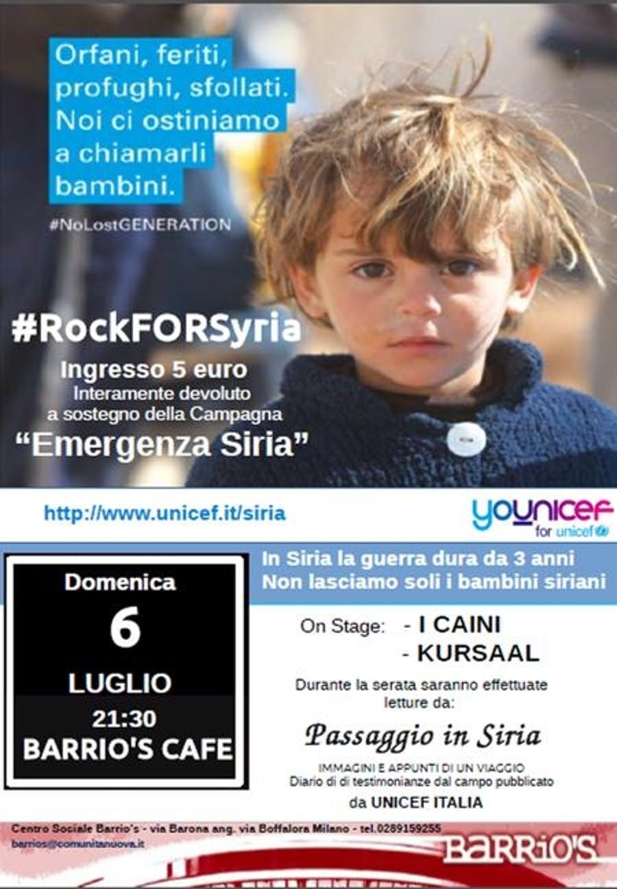 A Milano il Rock suona per la Siria