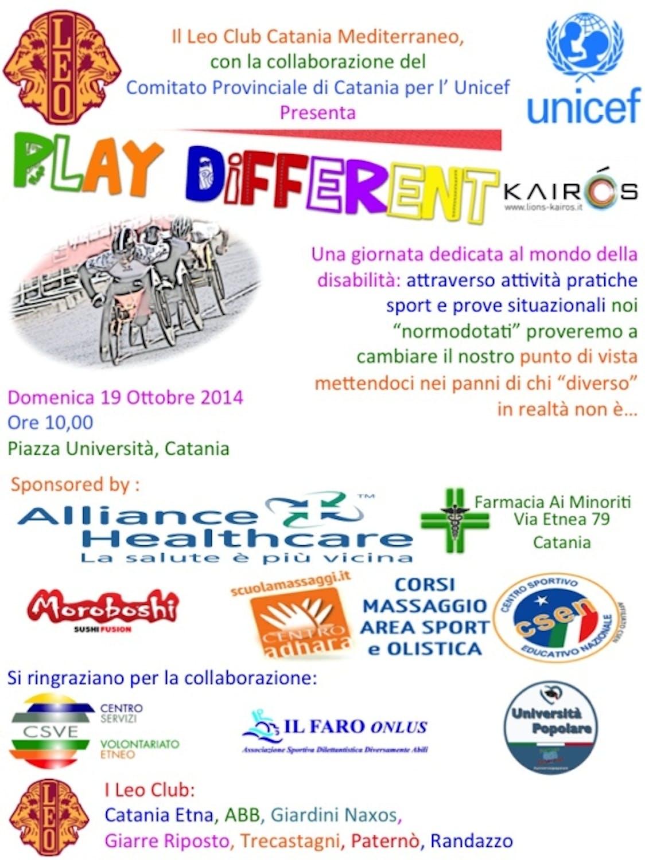 Catania: Leo Club e UNICEF presentano Play Different