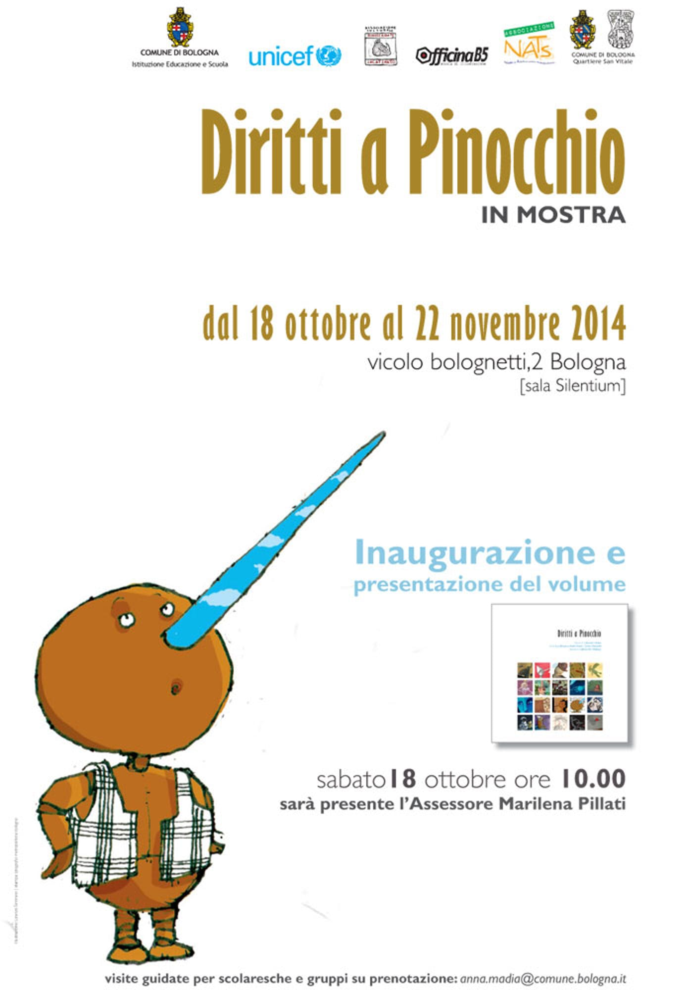 Bologna: i bambini portano Pinocchio nel loro futuro