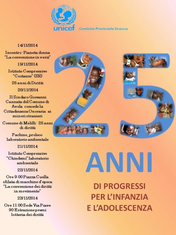 Siracusa festeggia i 25 anni dei diritti dei bambini