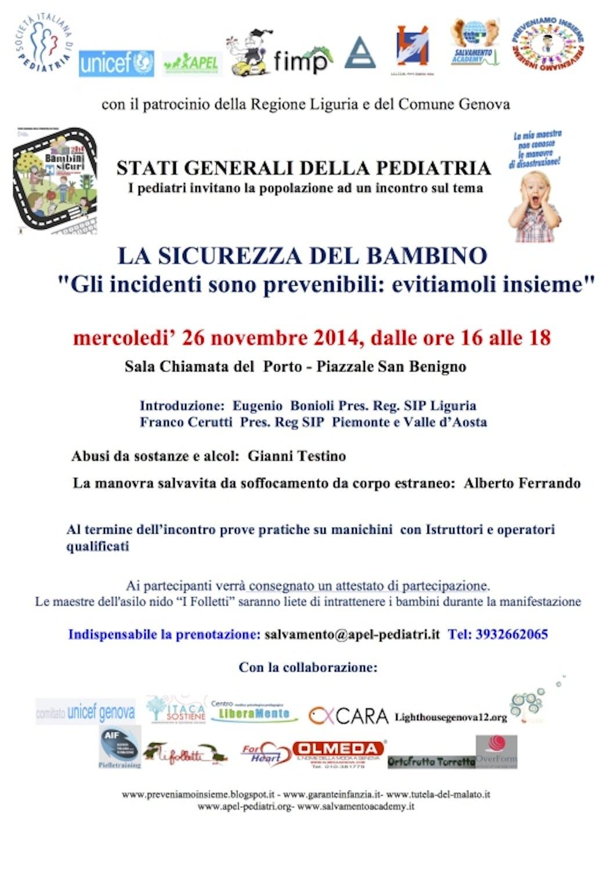 A Genova continuano gli incontri per la sicurezza del bambino