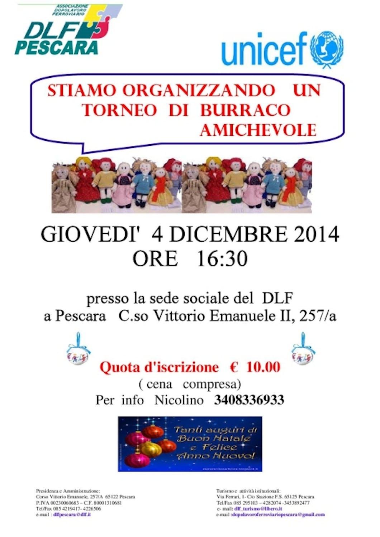 A Pescara torna il torneo amichevole di Burraco per sostenere UNICEF