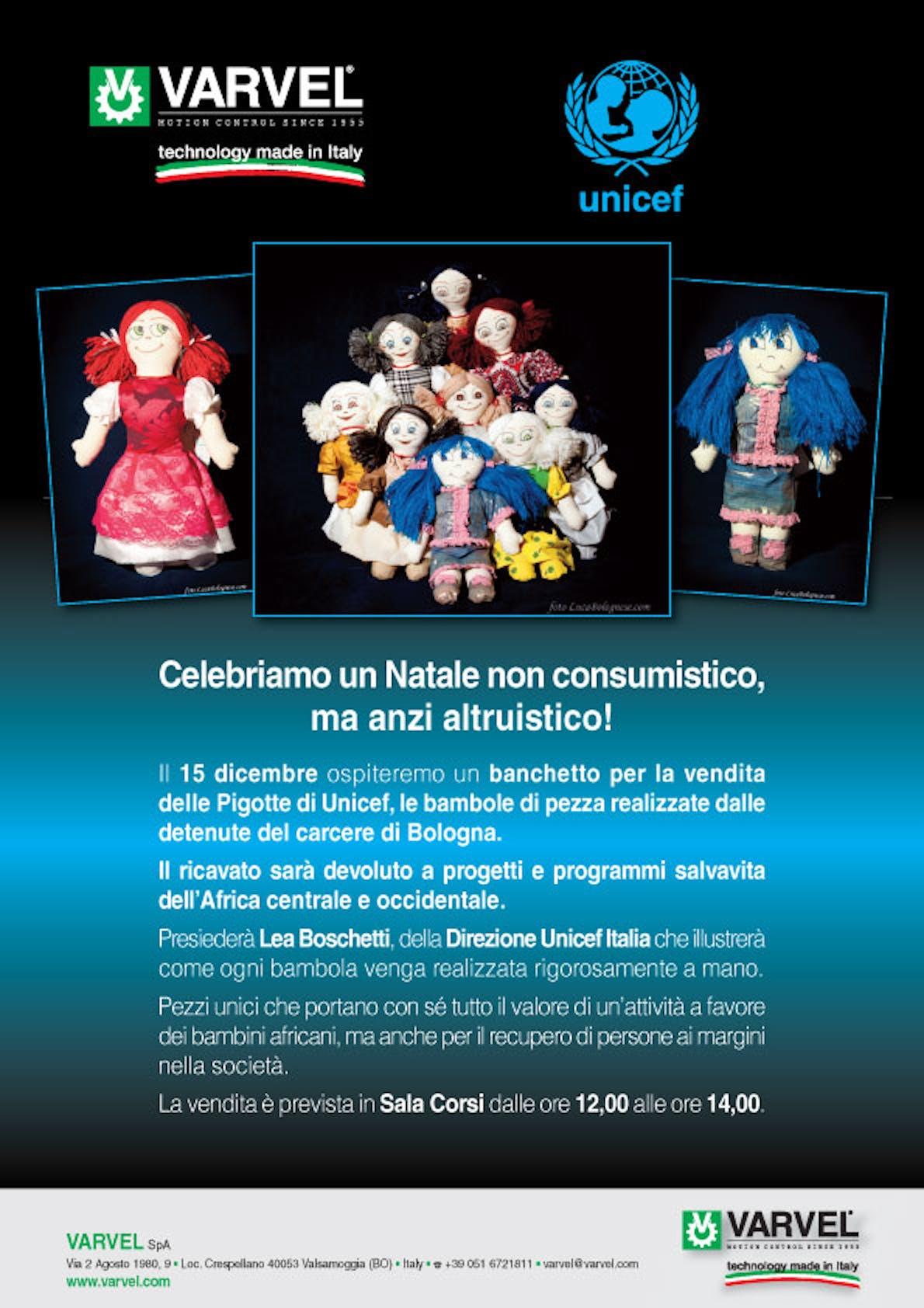 Bologna: Varvel ospita i volontari UNICEF per promuovere le pigotte