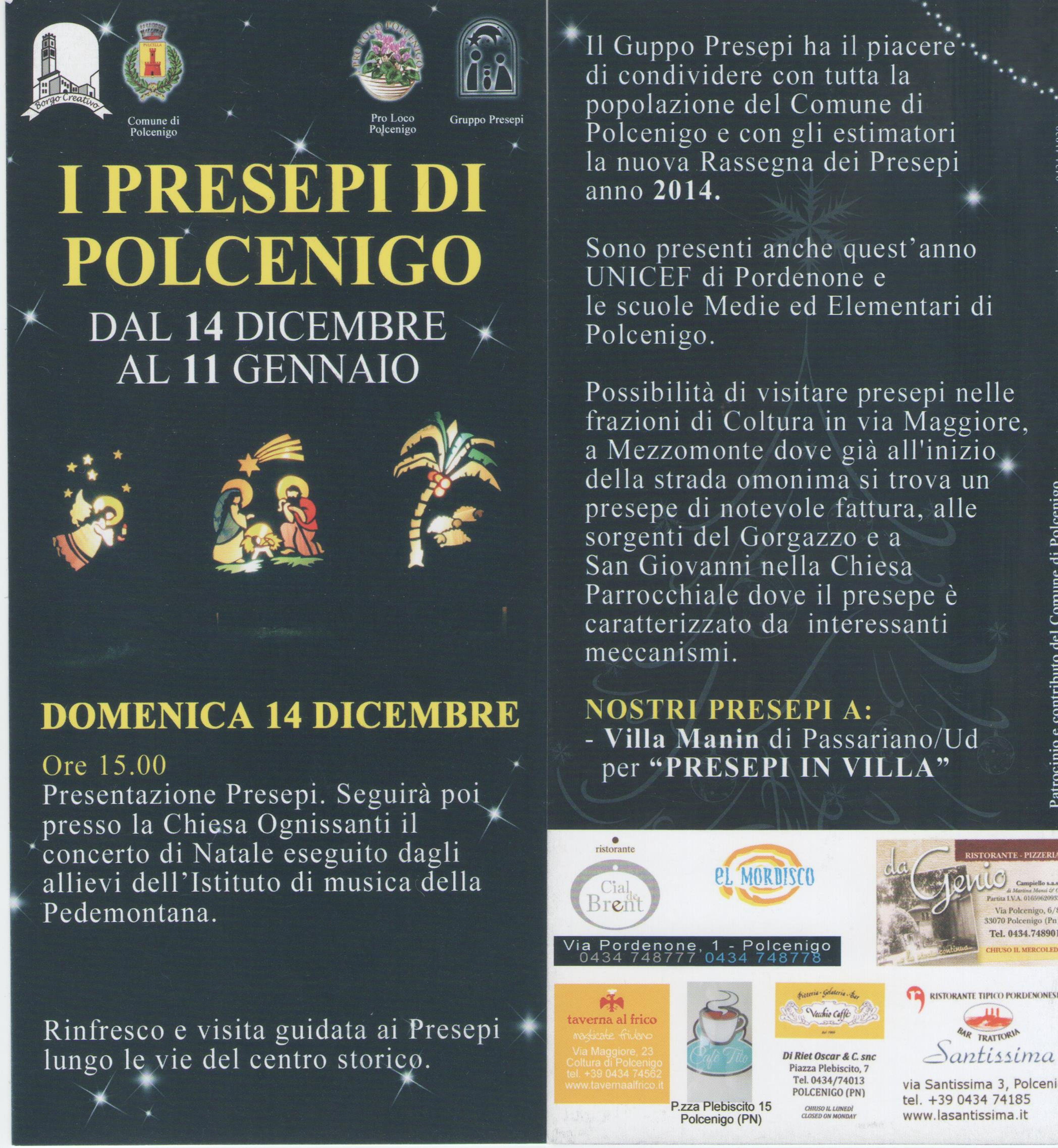 Torna a Polcenigo il presepe delle Pigotte UNICEF