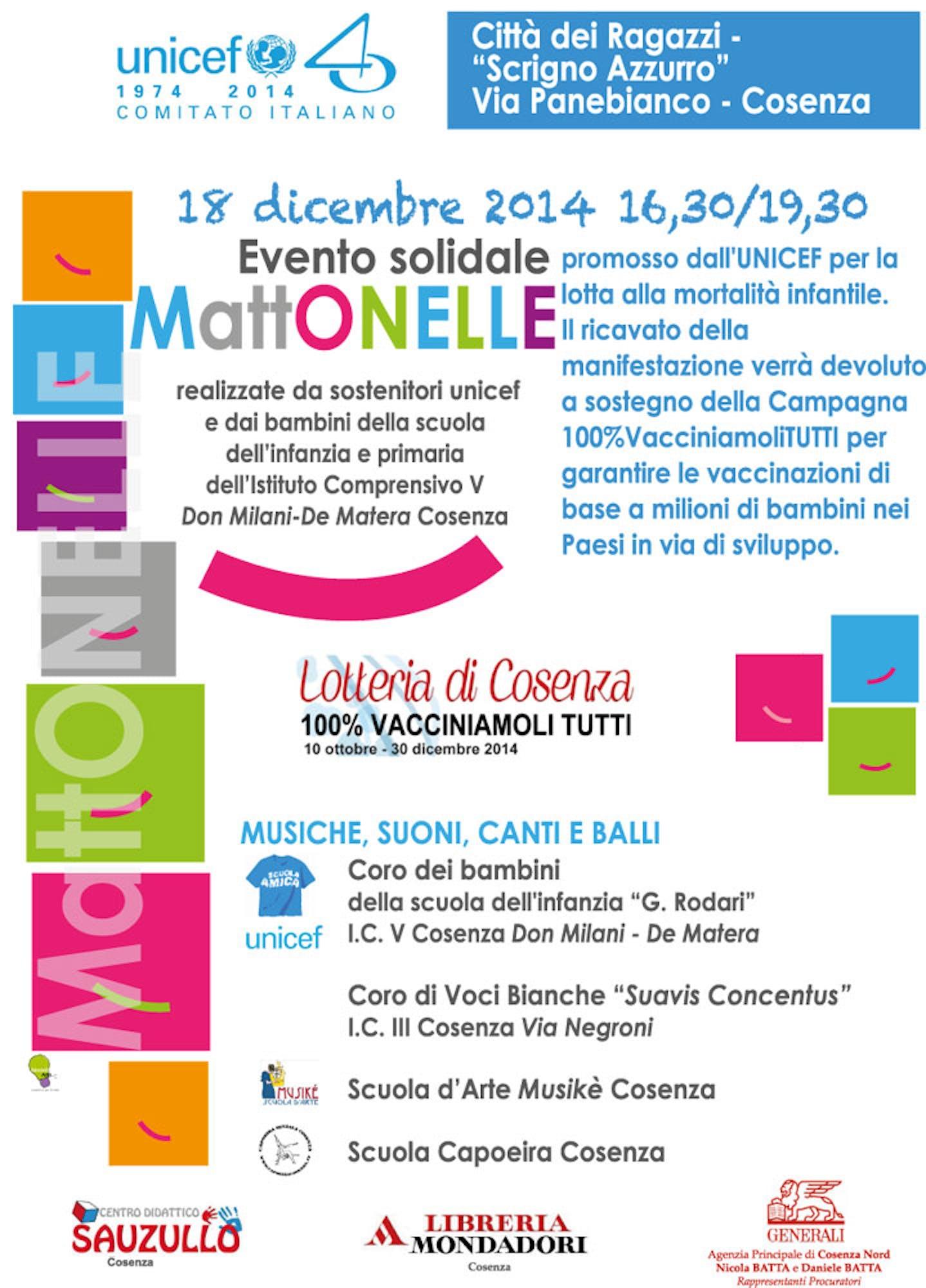 Domani a Cosenza approda l'evento solidale MattONELLE