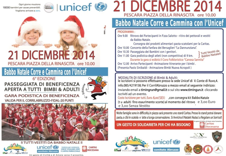 Torna a Pescara la corsa dei Babbi Natale per l'UNICEF