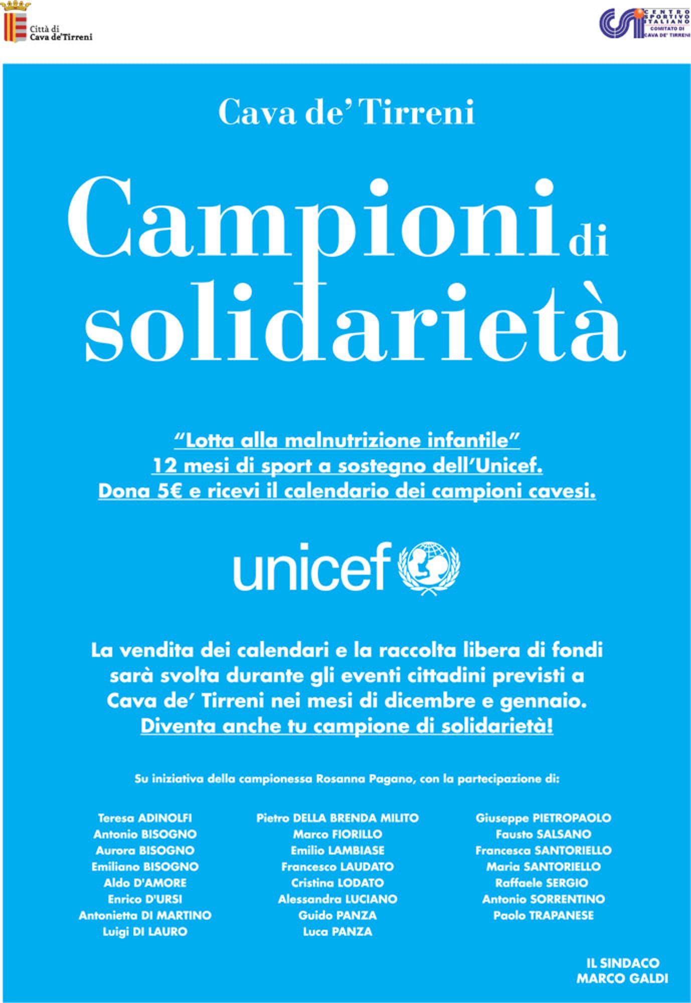Salerno: Rosanna Pagano per l'UNICEF